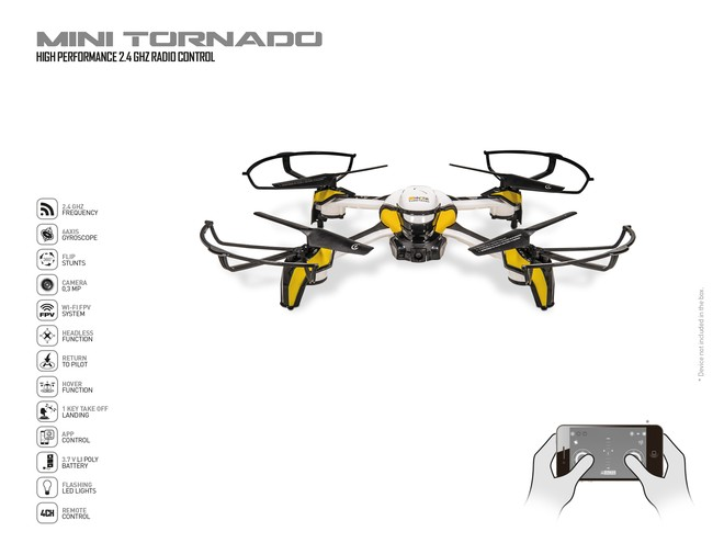63473 - ULTRADRONE MINI TORNADO - BLACK SERIES