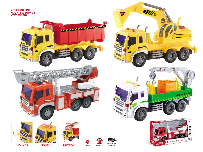 51173 - FRICTION MAXI TRUCK ASSORTMENT